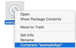 Compress selected app