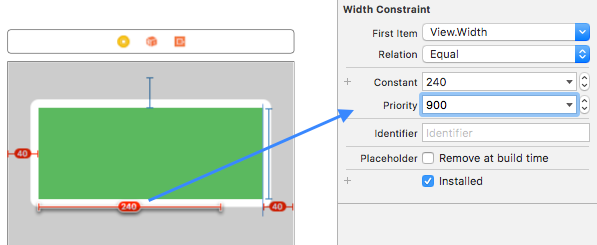 Set lower priority to width constraint