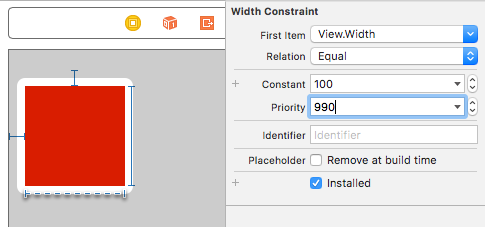 Optional constraint