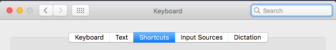 Select shortcuts