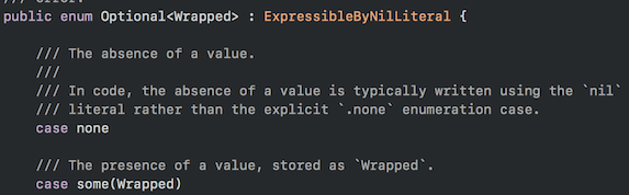 Optional Enum