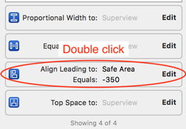 double click constraint