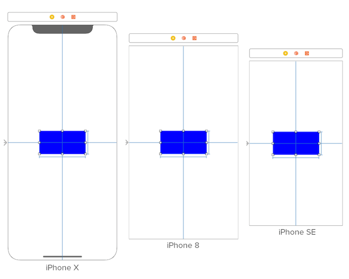 Auto layout constraint across multiple devices