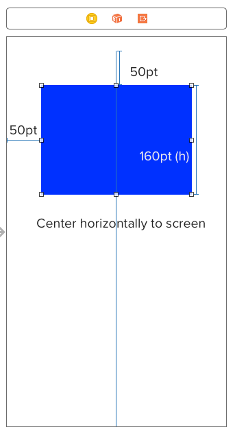 Center horizontal constraint