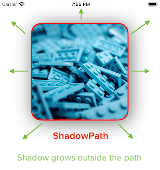 How to implement rounded corner image view with shadow