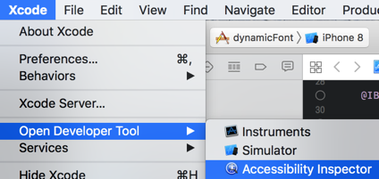 open accessibility inspector