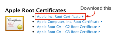 download root cert
