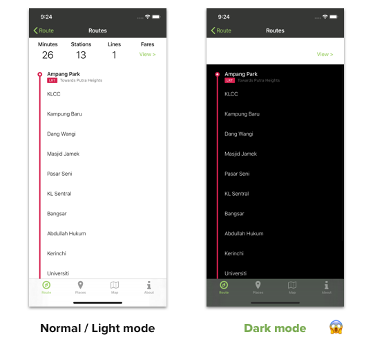 light dark mode comparison
