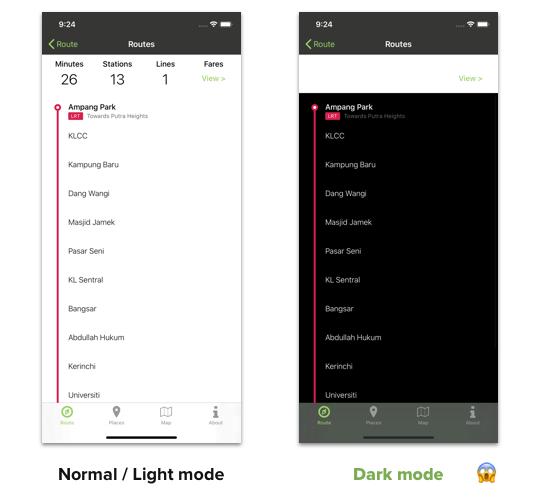 light dark mode comparison
