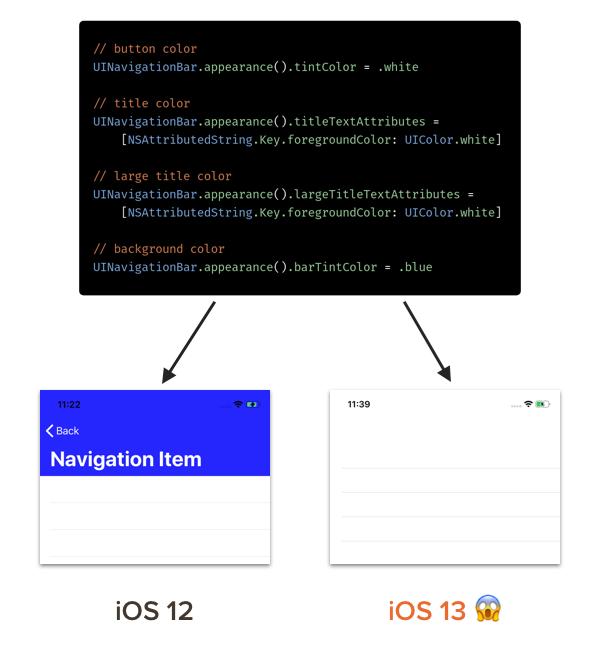 ios 13 navigation bar wtf