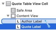 constraint between two labels