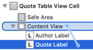 constraint of label to bottom of content view