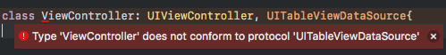 does not conform to protocol error